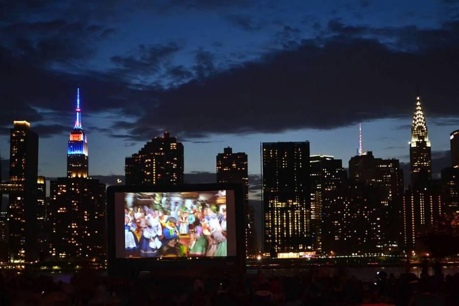 Gratis films kijken in de buitenlucht komende zomer in New York