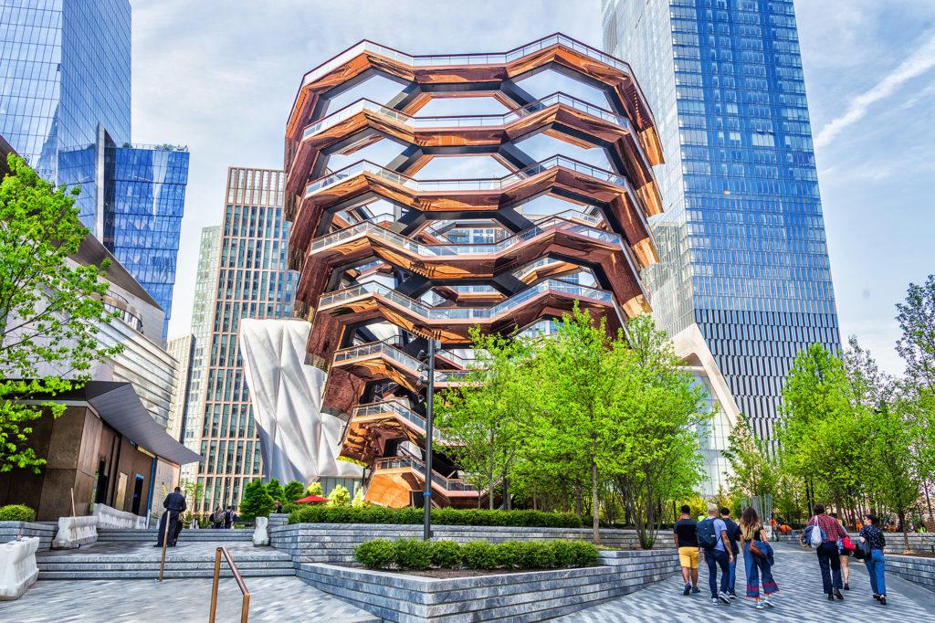 The Vessel in de nieuwe wijk Hudson Yards in New York